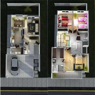 Planos de casas y plantas arquitect nicas de casas y - Recibidores de casas modernas ...