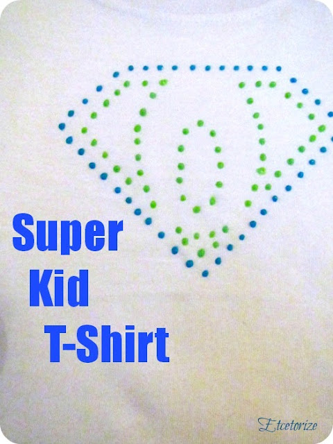 super kid T-Shirt, Tulip paint, glow in the dark, fabric paint idea