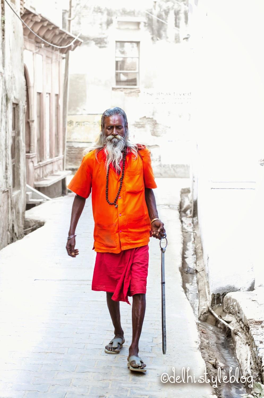 Sadhu at Keshi Ghat Vrindavan 1