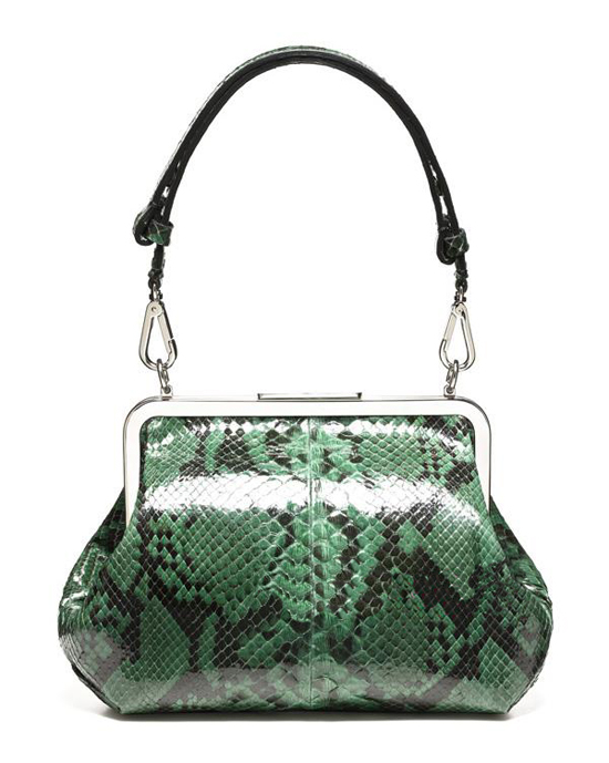 ... at the display of exquisite taste dark green python embossed handbag is  low-key luxury,for Marni resort 2012 handbags add some luxury temptation. cfae3a6a1b
