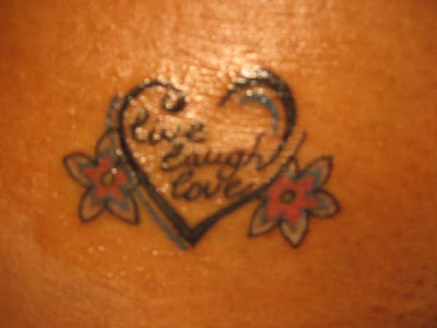 live laugh love tattoos on