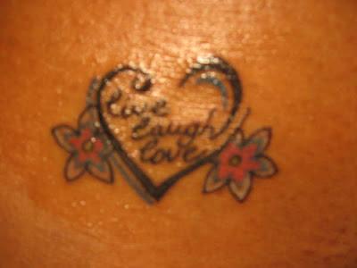 live laugh love tattoos on
