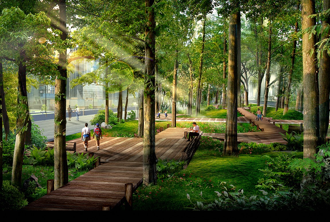 Tiện ích công viên cây xanh trong dự án chung cư 136 Hồ Tùng Mậu