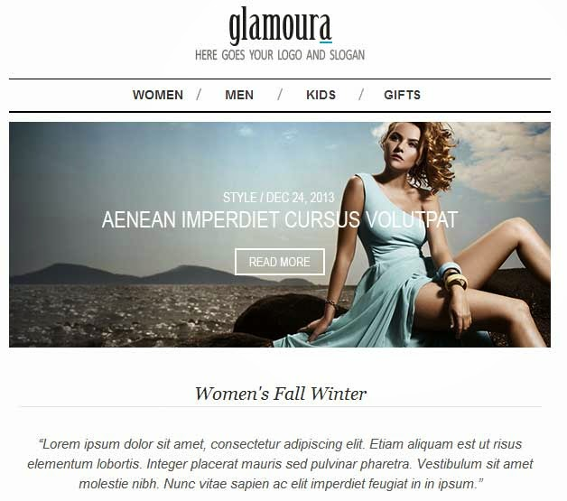 Glamoura – Responsive Fashion Email Template
