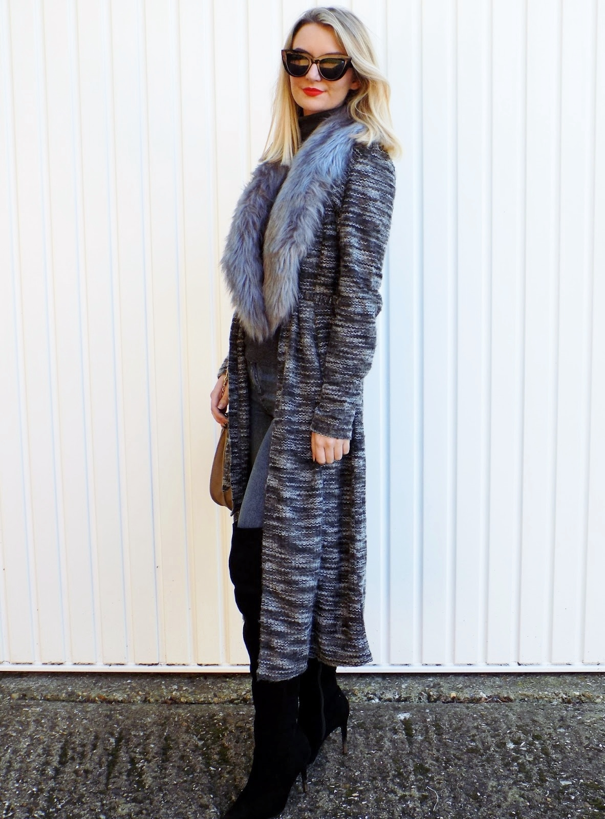 street style image wearing cosy chic knitwear