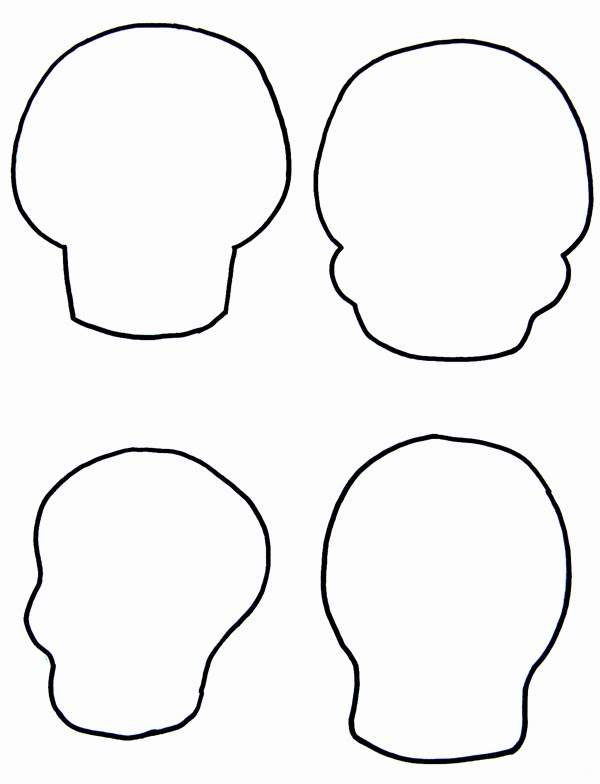 Zany image within skull template printable