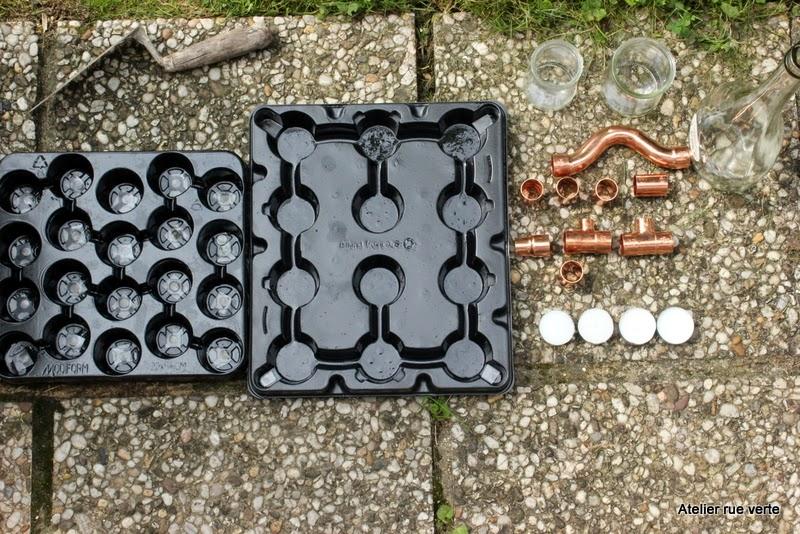 DIY / Bougeoirs cuivre et béton / Photos Atelier rue verte /