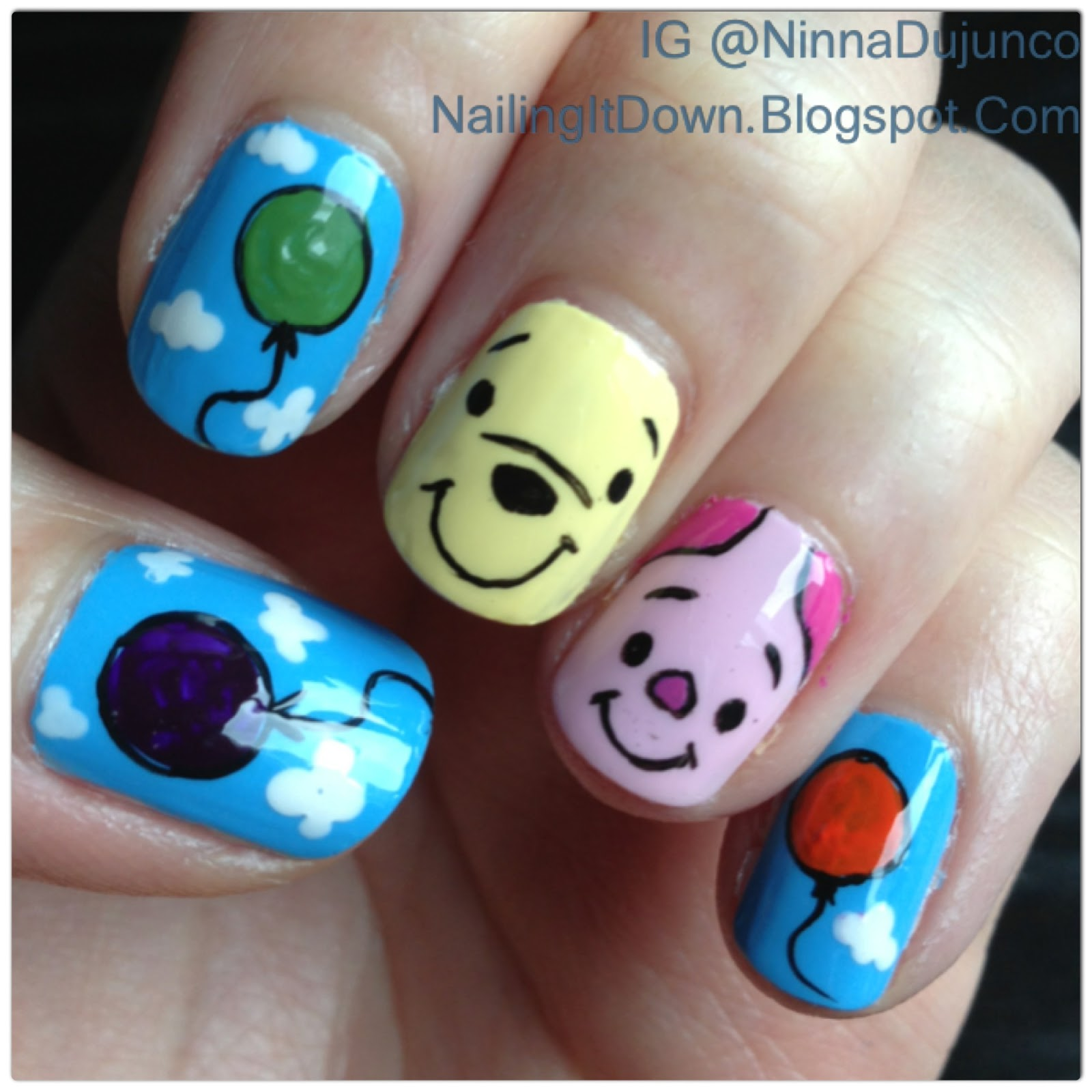 Nailing It Down Winnie The Pooh And Piglet Birthday Nails