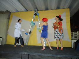 Cena da Ala Feminina do Hospício, Fabi, Fadua e Dani