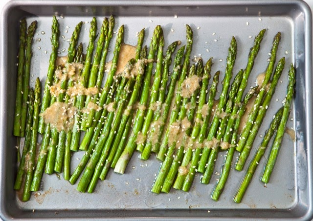 Miso ginger asparagus by Jaden Hair via Steamy Kitchen