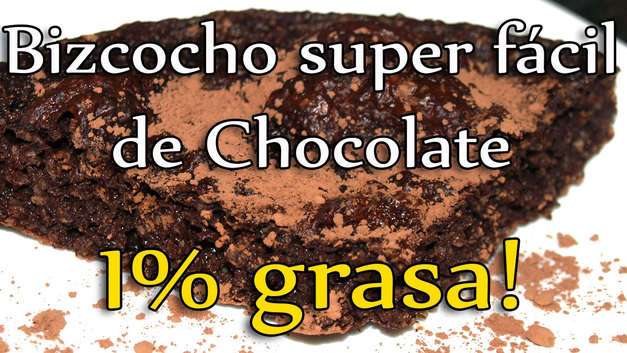 bizcocho superfacil de chocolate