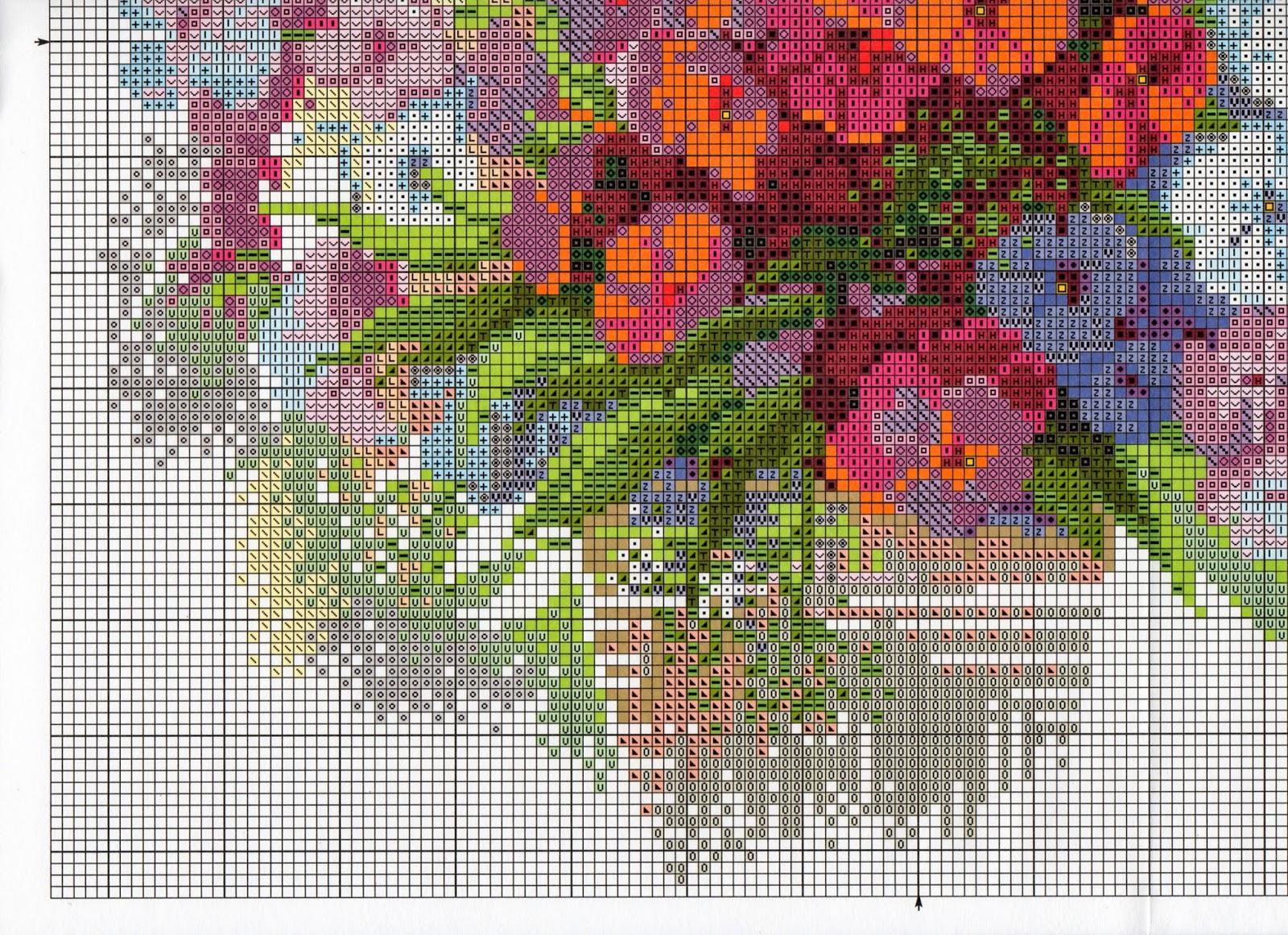 Каталог цветов для вышивки