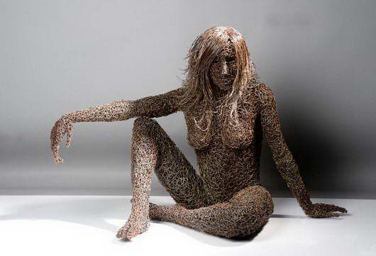 Incredible Iron Wire Sculptures by Mattia Trotta