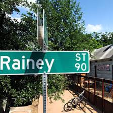 Rainey Street in Austin, Texas.