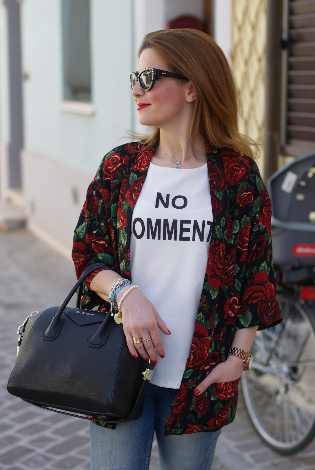 No comment t-shirt Molly Bracken, Fashion blogger style
