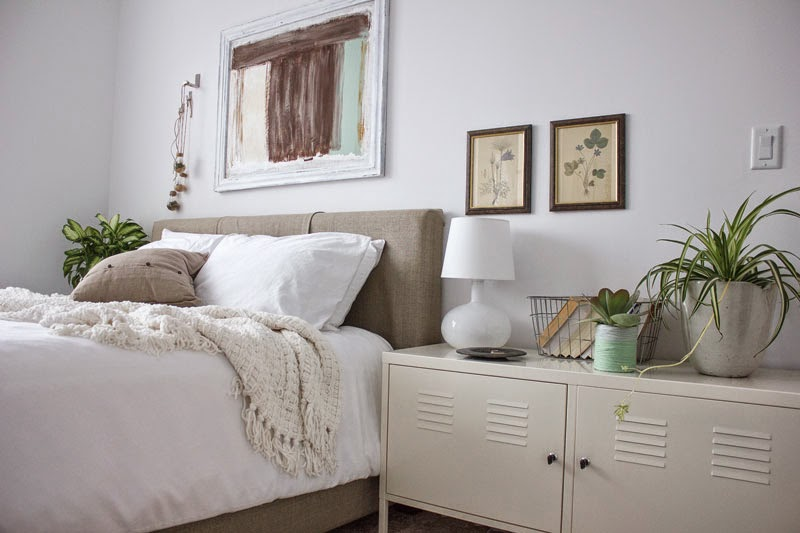 white and green winter bedroom