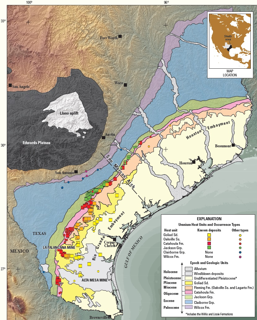 Map Of South Texas Coast on