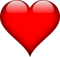 picture of a shiny red heart