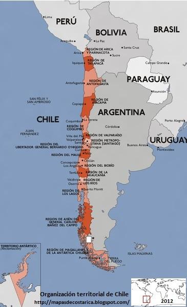 División política de CHILE