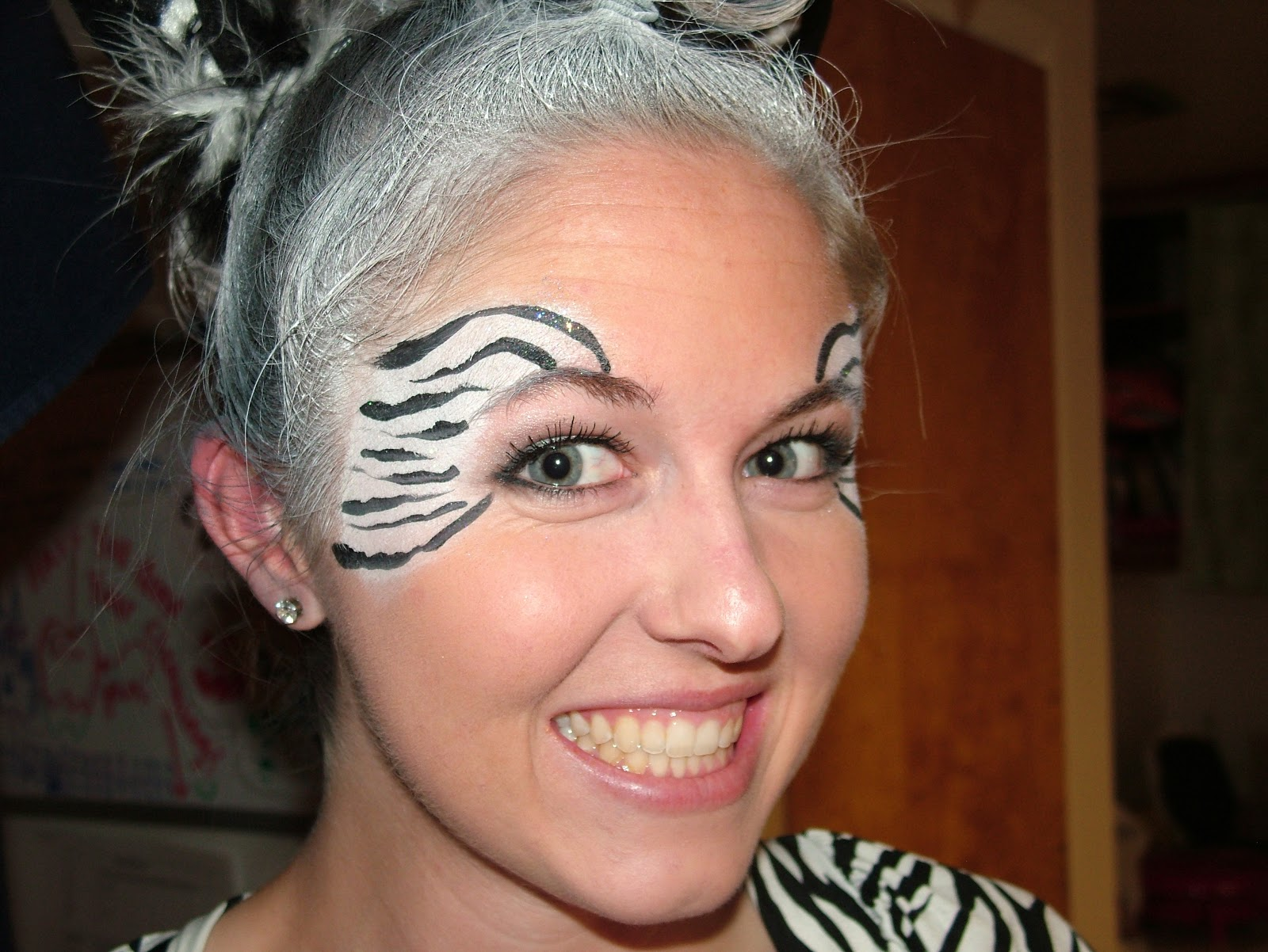 Gallery For gt Simple Zebra Face Paint