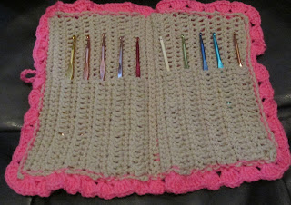 Inside look of Crochet hook case