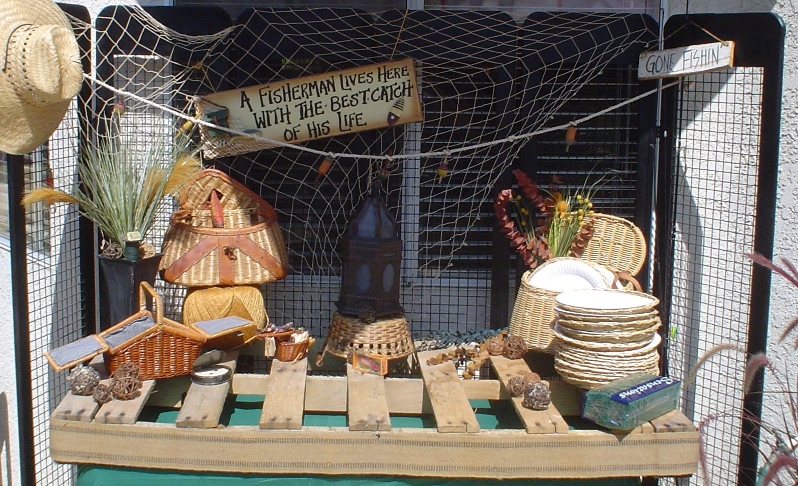 Gone fishing tablescape one more time events for Fishing theme party ideas
