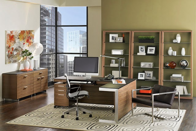 couleur de peinture pour bureau de travail id es d co moderne. Black Bedroom Furniture Sets. Home Design Ideas