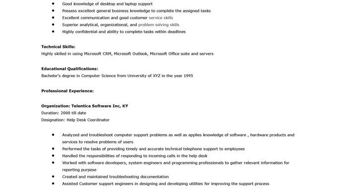 Help Desk - It Help Desk Job Description - Jobs Information Center