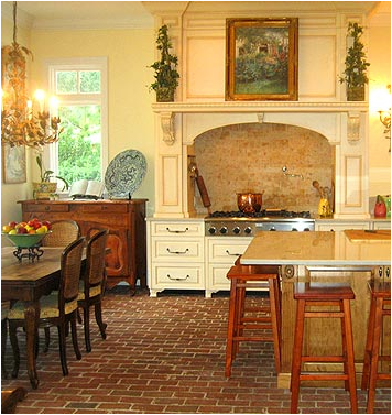 French country dining room design ideas room design for Flooring ideas for kitchen and dining room