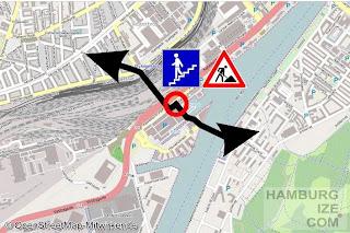 Kopenhagen, Radverbindung Bryggerampen / Bryggebroen