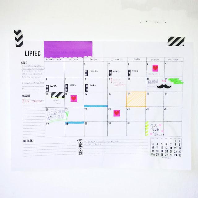 Mój kreatywny kalendarz blogowy