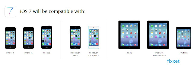ios 7 compitable devices