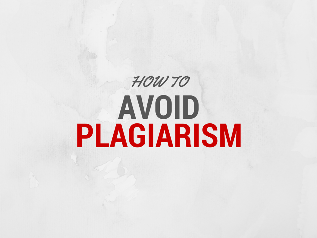 Write Your Own Term Paper: Plagiarism
