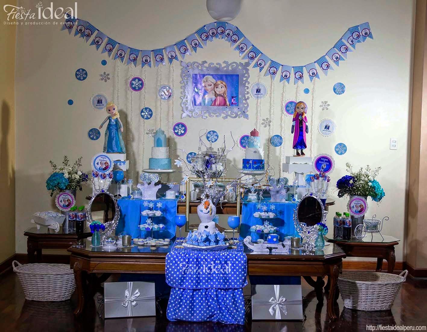 Fiesta ideal peru frozen fiesta tem tica decoraci n - Decoracion fiestas cumpleanos ...