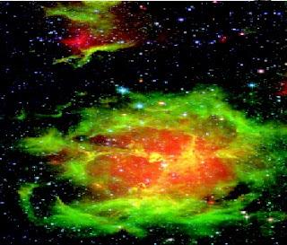 Gambar 1. Gambar Nebula yang diperoleh dengan telescop