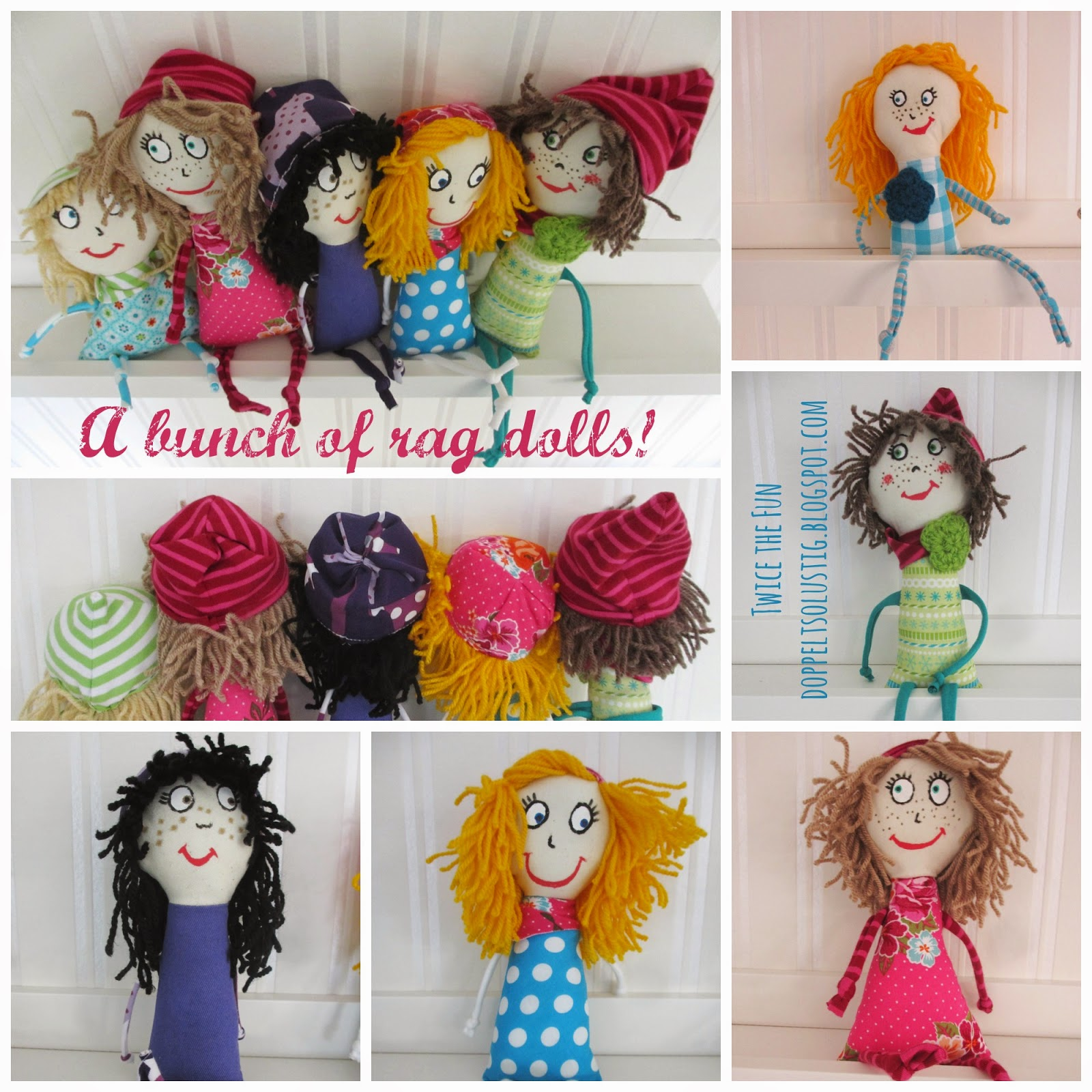 A bunch of rag dolls | Twice the fun