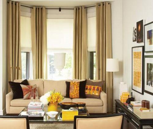 Decoraci n de interiores ideas de decoraci n de ventanas for Decorating a bay window in the bedroom