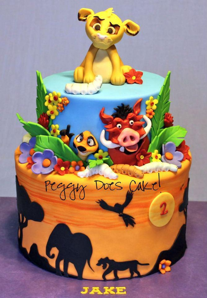 SweetThings Guest Post Peggy Does Cake - Lion King Wedding Cake