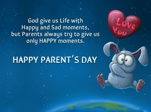 Lovely Wallpapper And  Unique Parent's Day Quote From Children