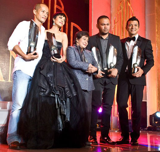36th Gawad Urian 2013 winners: Art Acuna, Alessandra De Rossi, Nora Aunor, Adolfo Alix Jr. and Jericho Rosales