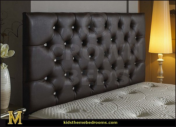 FAUX LEATHER DIAMOND HEADBOARDS