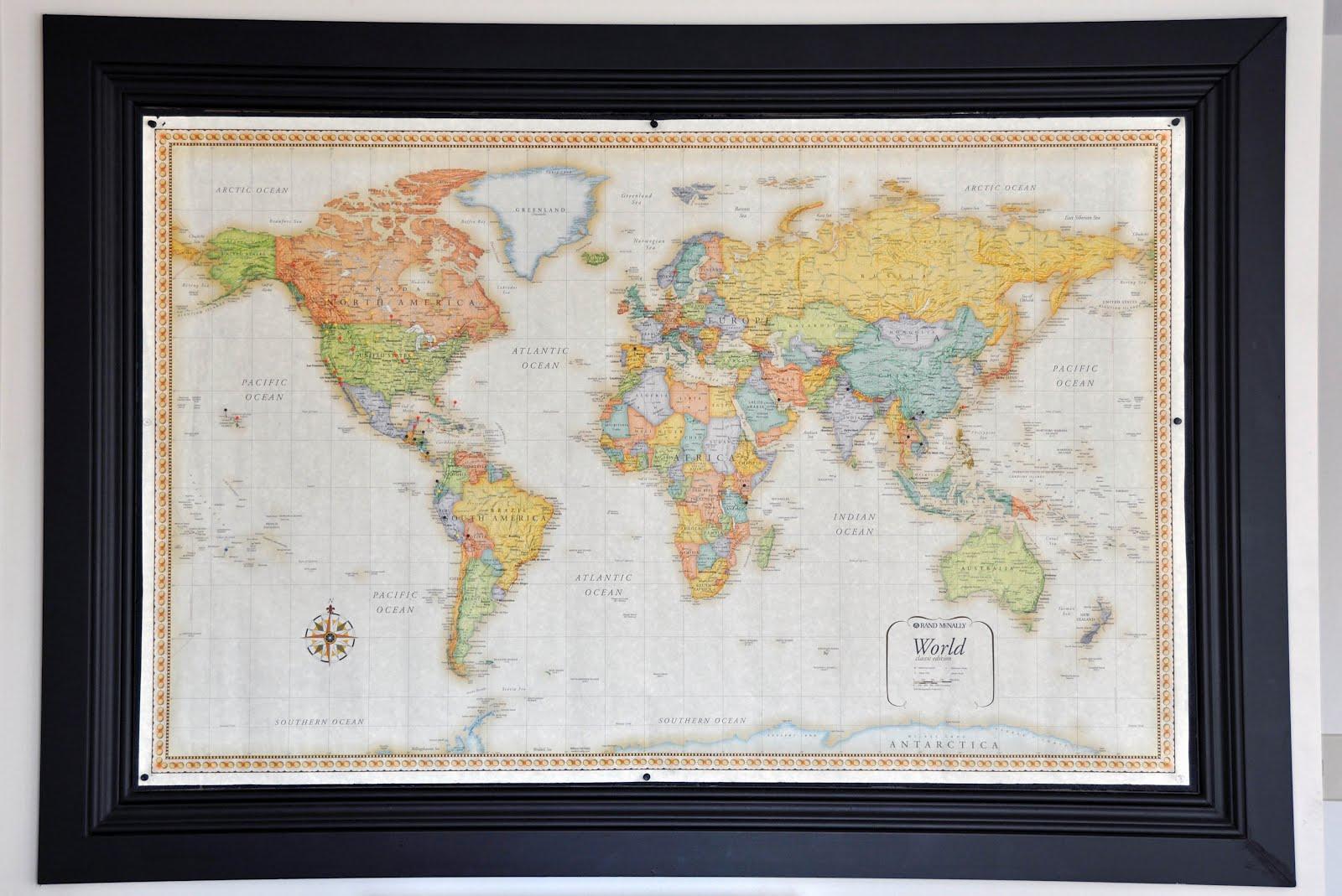 A Joyful Life World Map - Where i have traveled map