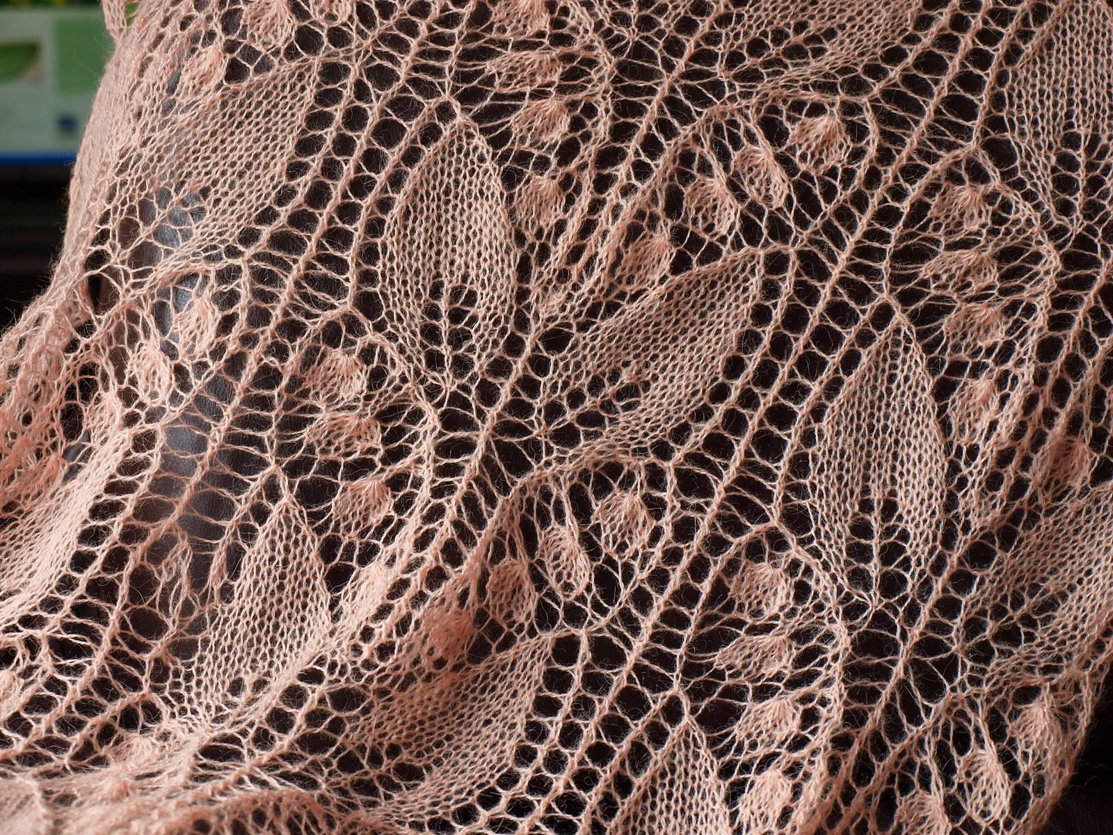 Красивый ажурный узор для вязания спицами Ландыши 58