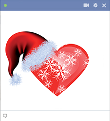 Heart with Santa hat