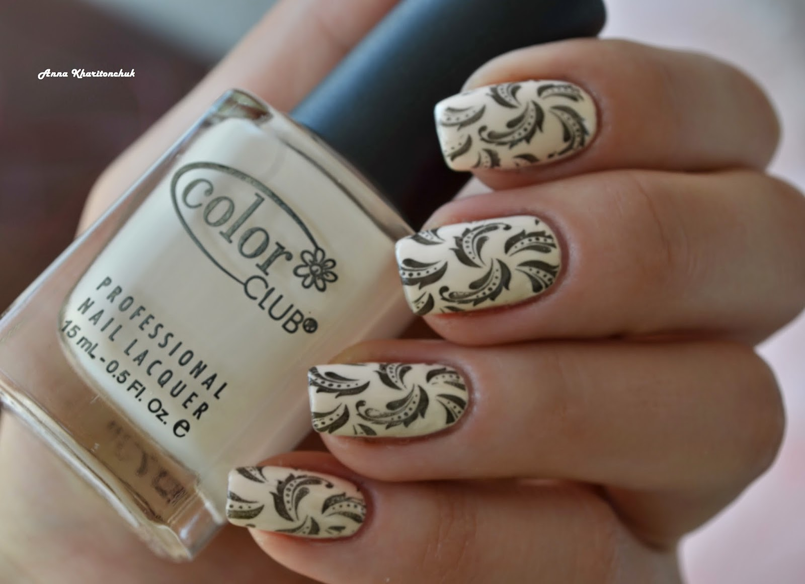 Color Club Poetic Hues 1007 и стемпинг Lesly LS-123