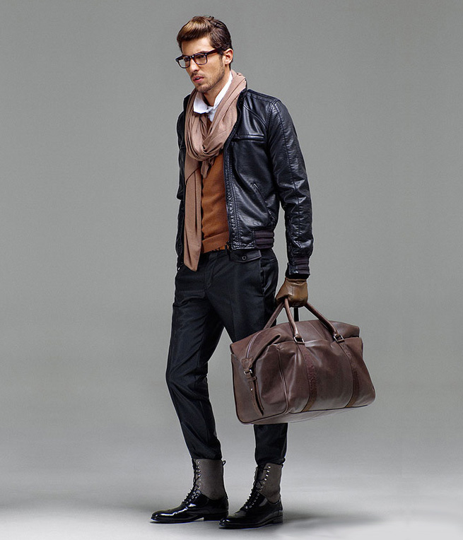 What to wear: Brown leather jacket, black jeans, black boots ...