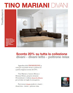 E\' online la nuova promozione divani e poltrone offerti al 20% di ...