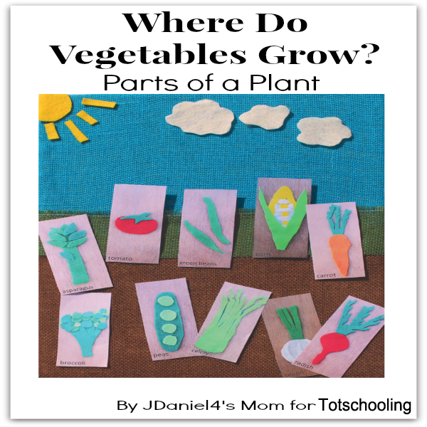 Where do Vegetables Grow? Gardening Craft with Free Printable ...