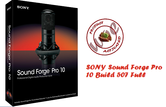 SONY Sound Forge Pro 10 Build 507 Full Version With Patch and Keygen