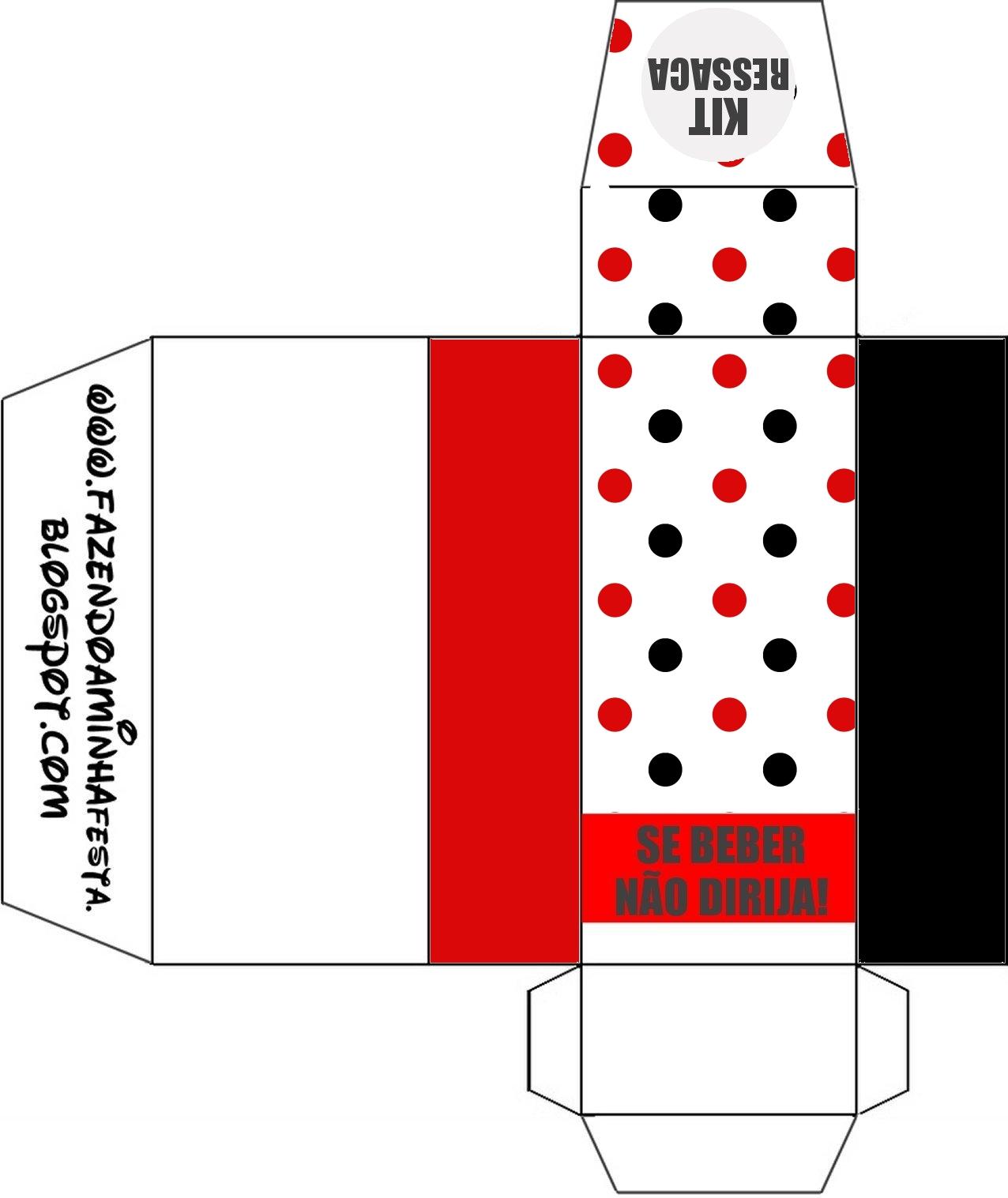 Kit Toilet Banheiro Poá Vermelho e Preto Fazendo a Minha Festa #C40708 1276x1517 Banheiro Bege Com Vermelho